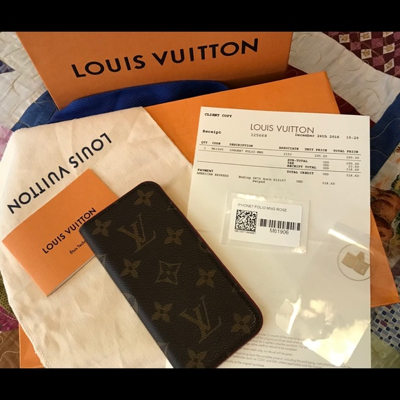 68c19c94ffa Louis Vuitton Accessories - Authentic Louis Vuitton iPhone 7 Case w  Receipt